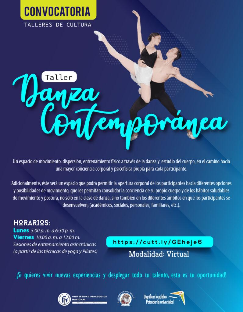 Inscripciones abiertas taller Danza Contemporánea