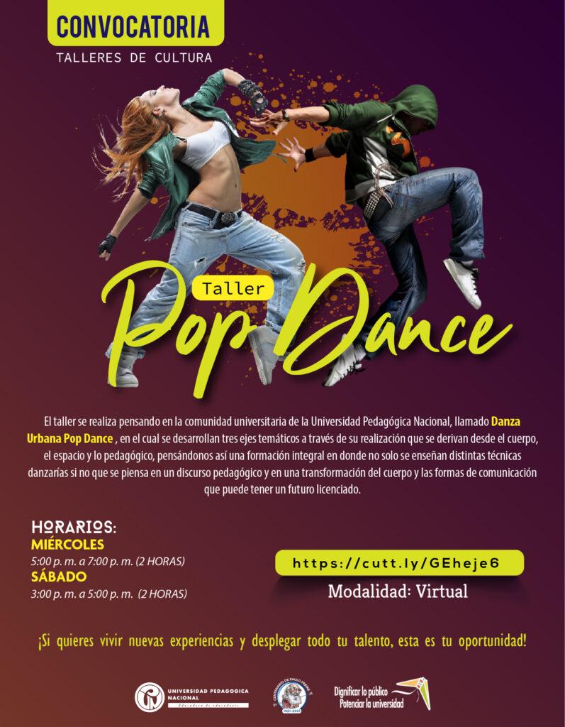 Inscripciones abiertas taller: Pop Dance