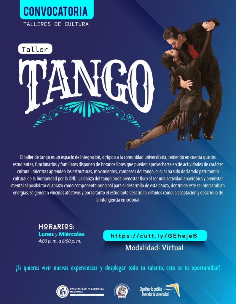 Inscripciones abiertas taller: Tango